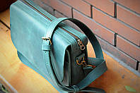 Кожаная сумка Луиза Изумруд. Ручная работа, фото 1