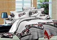 Двуспальный комплект постельного белья ранфорс Superbike ТM TAG