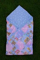 Конверт-одеяло для новорожденных В перышки и мишки