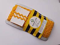 Тесьма зигзаг вьюнок ( зиг-заг )  5-6 мм, Тасьма зигзаг в'юнок, в'юнчик ( 30 метрів) Оранжево жовтий