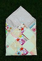 Конверт-одеяло для новорожденных Цветное в лисички