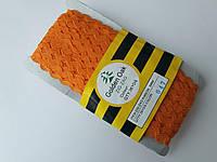 """Тасьма зигзаг ( в""""юнчик )  5-6 мм, ( 30 метрів) оранжева"""
