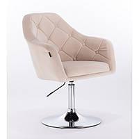 Кресло  НR 831 велюр кремовое, фото 1