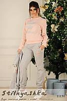 Теплый костюм тройка Timberland серый с розовым, фото 1