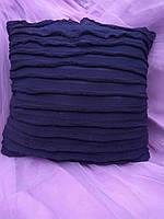"""Подарочная подушка """"Синяя в полоску"""" флок"""