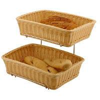 Корзинка для хлеба и булочек прямоугольная GN 1/2, комплект 2 шт., со стеллажом , 561201 Hendi