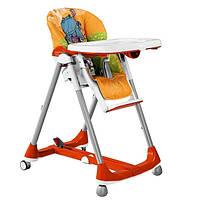 Стульчик для кормления Peg-Perego Prima Pappa Diner PIP48 оранжевый с рисунком
