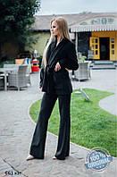 Женский костюм из бархата с брюками бат 661 кэт
