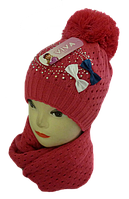 Шапка+шарф для девочек