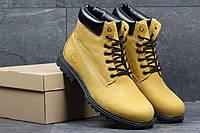 Мужские зимние ботинки Timberland рыжие 3643