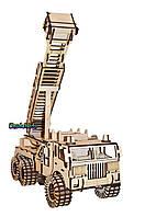 Деревянная игруша 3D пазл Fire car. Ручная работа!