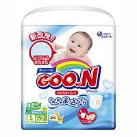Трусики-подгузники GOO.N для активных детей 5-9 кг (размер S, унисекс, 62 шт)