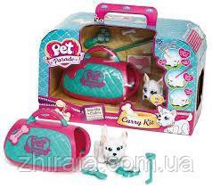 Игровой набор переноска со щенком Pet Parade Carry Kit
