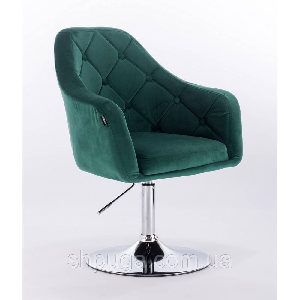 Кресло  HR831  велюр бутылочный зеленый