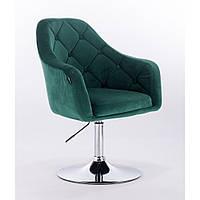 Кресло  HR 831  велюр бутылочный зеленый, фото 1