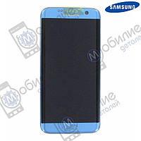 Дисплей Samsung S7 Edge (модуль экран + тачскрин) G935 Blue