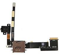 Шлейф для iPad 2 коннектора наушников, (версия 3G), Sim коннектора, черный
