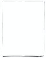 Рамка тачскрина для iPad 2 / iPad 3 / iPad 4, белая
