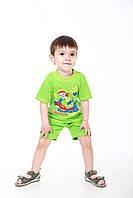 Комплект детский с надписью футболка и шорты, фото 1