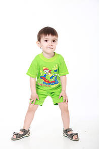 Комплект дитячий з написом для хлопчика футболка і шорти