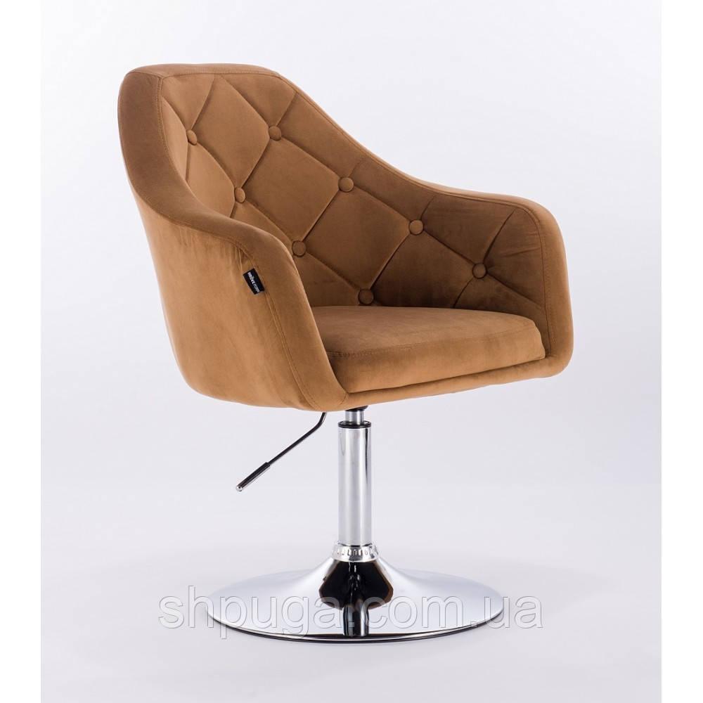Кресло  HR831  велюр медовое