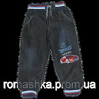 УЦЕНКА -40% Детские утепленные джинсы р. 116 на махре для мальчика теплые зимние Турция 3351 Синий Б