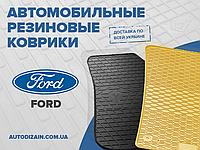 Резиновые коврики в салон FORD TRANSIT CONNECT 03- 09- (Форд Транзит Коннект) (design 2016)