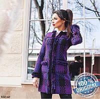 Женское пальто в клетку 668 кэт