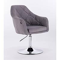 Кресло  HR 831  ткань серое или велюр, фото 1