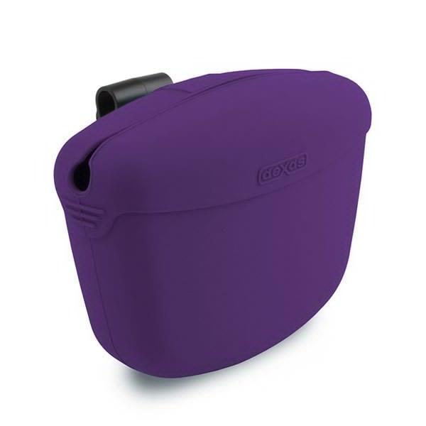 Dexas Pooch Pouch - контейнер для лакомств с клипсой на пояс (фиолет)