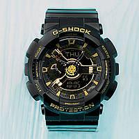 Распродажа! Спортивные мужские часы Casio G-Shock ga-110 Black-Gold