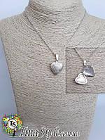 Подвеска кулон медальон сердце для фото LOVE цепочка для влюбленных Новинка Шарм