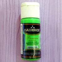Краска акриловая флуоресцентная зеленая, 25мл