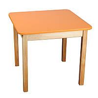 Стол деревянный  цветной оранжевый
