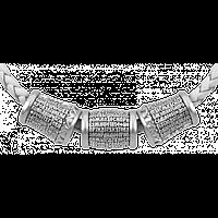 """Шарм Бусины серебряные """"Молитва """"Псалом 90"""" Б235-R"""