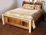 """Двуспальная кровать из натурального дерева  """"Фиджи"""""""