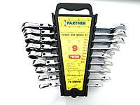 Набор ключей комбинированных трещоточных с шарниром 9пр. (8,10,12,13,14,16,17,18,19мм) в пластиковом держателе
