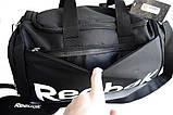Спортивная сумка Reebok. Дорожная сумка. Сумки Найк. Сумка в спортзал. Спортивная сумка с отделом для обуви., фото 6