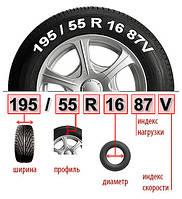 Индекс скорости и нагрузки автомобильных шин