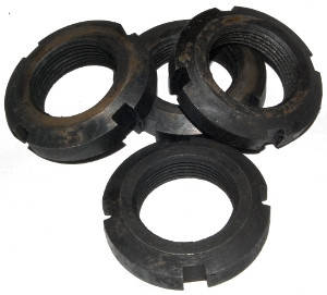 Гайка М100 круглая шлицевая ГОСТ 11871-88, фото 2