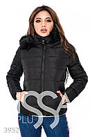 Ledi M Женская куртка с мехом IS 3952 черный Леди М
