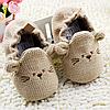 Детские вязанные пинетки для дома (утепленные) для новорожденного мальчика, девочки 3, 6, 9, 12, 18