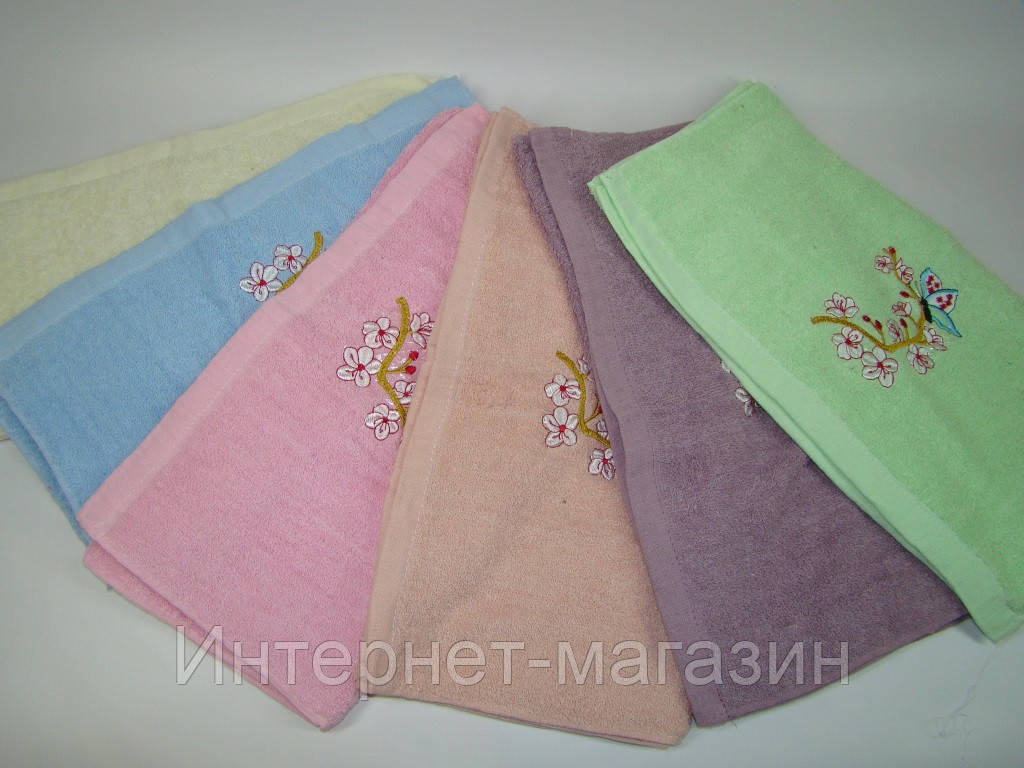 Лицевое полотенце махровое (45х90 см) код 0106