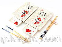 "Сервиз для суши ""Белый с цветами сакуры"" (2 персоны) (28х28,3х3,5 см)"