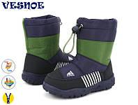 Дутая водонепроницаемая обувь для мальчиков, сноубутсы 27,28,29,30,31,32,33р.