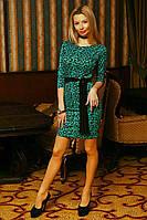 Женское коктельное платье с красивым принтом, фото 1