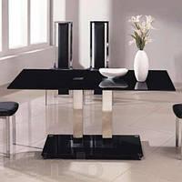 Стол обеденный Аврора Черный (СДМ мебель-ТМ)