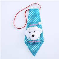 Краватка новорічний з паєтками