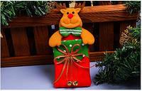 Новогоднее украшение для столовых приборов