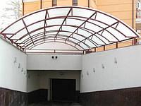 Поликарбонат сотовый Sanex толщина 8 мм. прозрачный